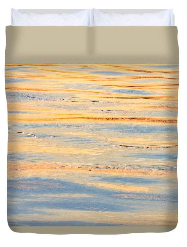 Water Duvet Cover featuring the photograph Sunset Reflected - Cooper River Charleston South Carolina by Bill Swindaman