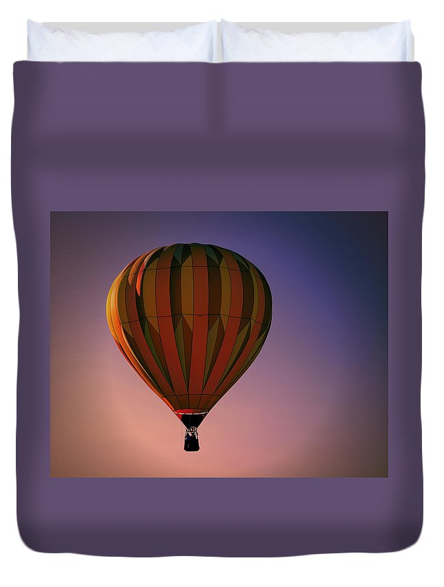Sunset Tranquility Duvet Cover featuring the digital art Sunset Tranquility by Gary Baird