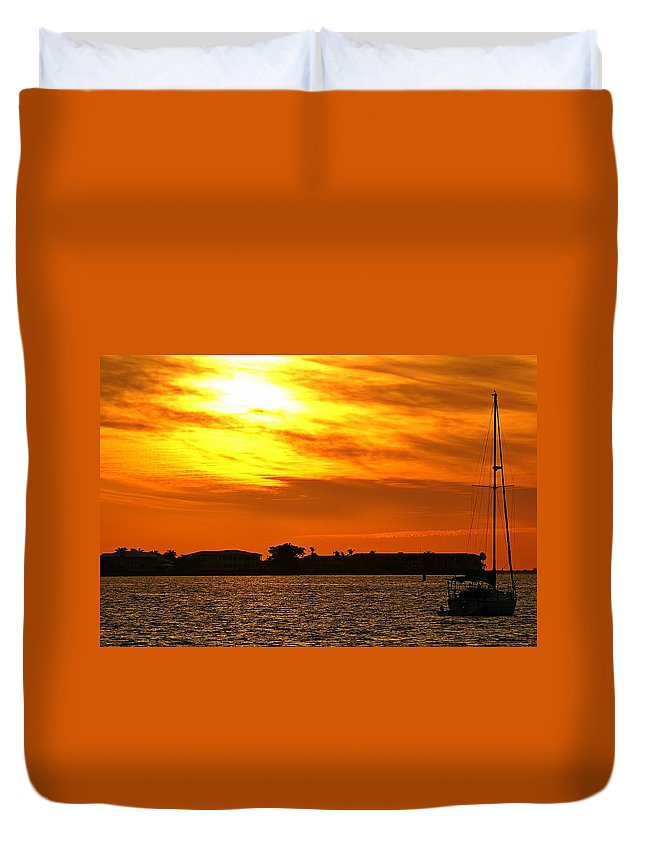 Sunset Duvet Cover featuring the photograph Sunset Viii by Joe Faherty