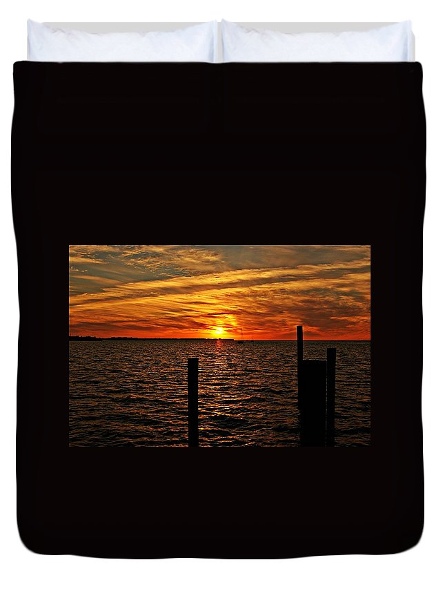Sunset Duvet Cover featuring the photograph Sunset Xvii by Joe Faherty