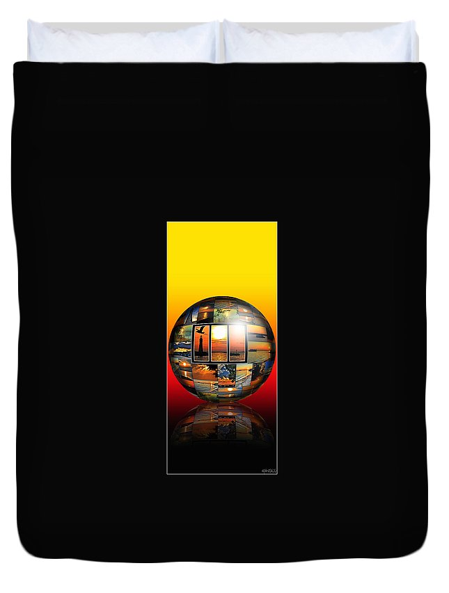 Duvet Cover featuring the photograph Sunsets by Michael Frank Jr