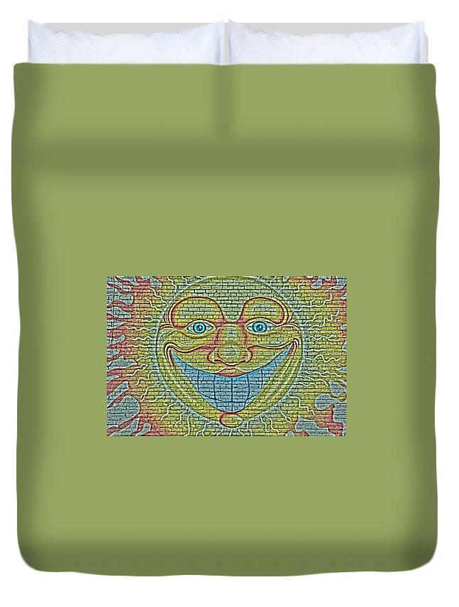 Sun Duvet Cover featuring the photograph Sunshine Smile Art by Tom Leach