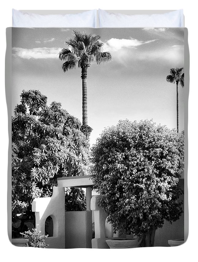 Palm Springs Duvet Cover featuring the photograph Suntan Lane Palm Springs by William Dey
