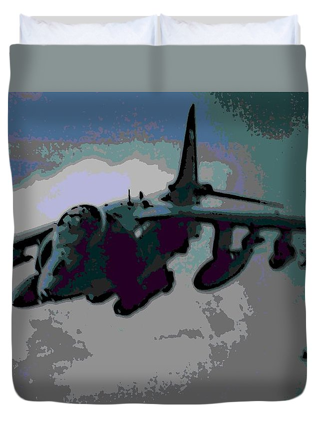 Superior Duvet Cover featuring the photograph Superior Firepower by George Pedro