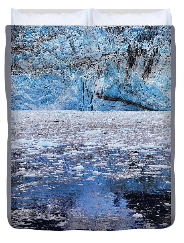 Alaska Duvet Cover featuring the photograph Surprise Glacier by Rick Berk