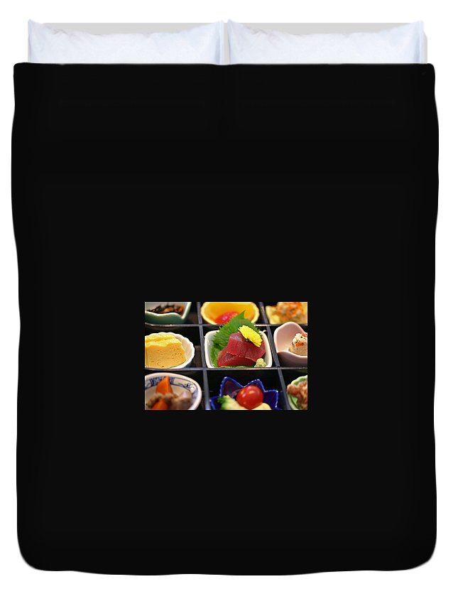 Japan Duvet Cover featuring the photograph Sushi Art by David Rucker