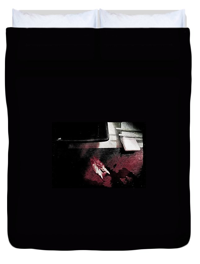 Sushi Duvet Cover featuring the photograph Sushi Killer by Michele Mule'