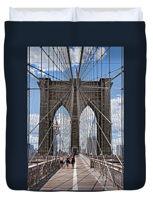 Nyc Duvet Cover featuring the photograph Suspended Animation by S Paul Sahm
