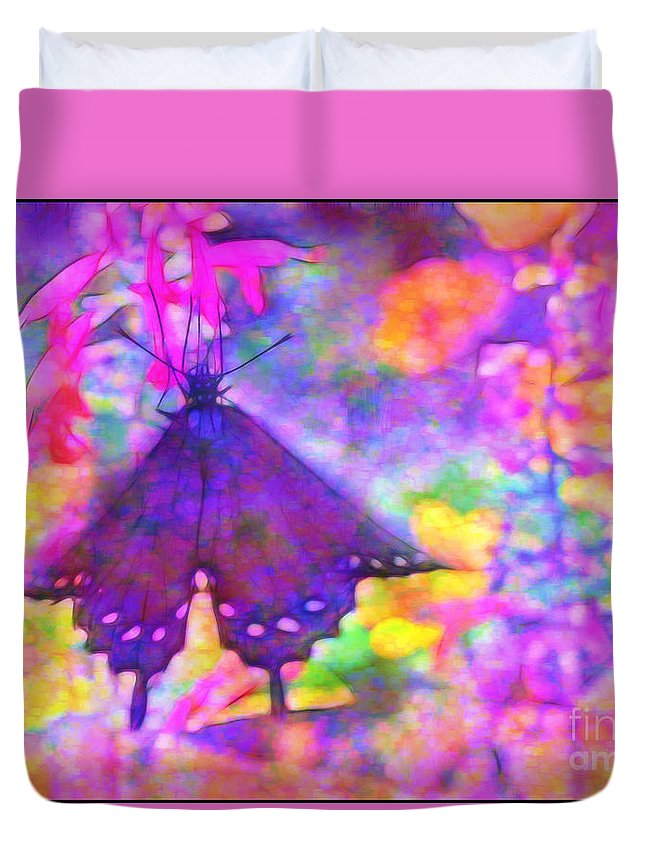 Swallowtail Duvet Cover featuring the photograph Swallowtail by Judi Bagwell