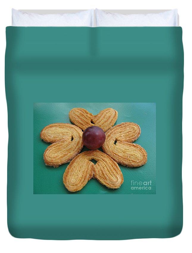 Sugar Cookie Duvet Cover featuring the photograph Sweet Flower by Ausra Huntington nee Paulauskaite