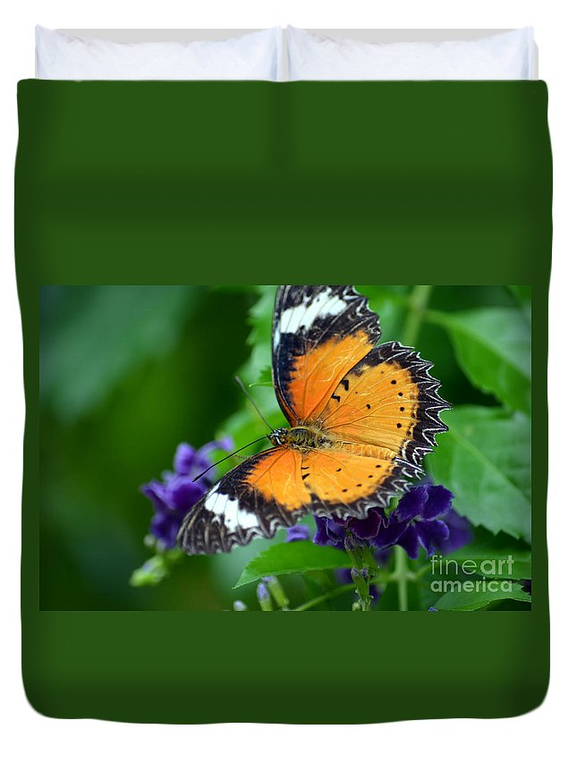 Butterfly Duvet Cover featuring the photograph Sweet Nectar by Richard Ortolano