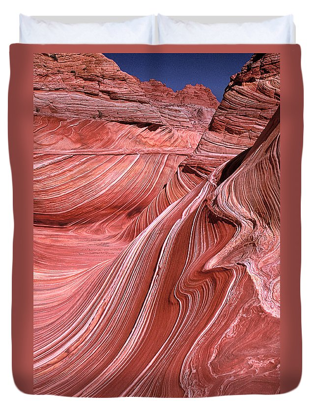 Sandstone Duvet Cover featuring the photograph Swirling Sandstone by Dave Mills