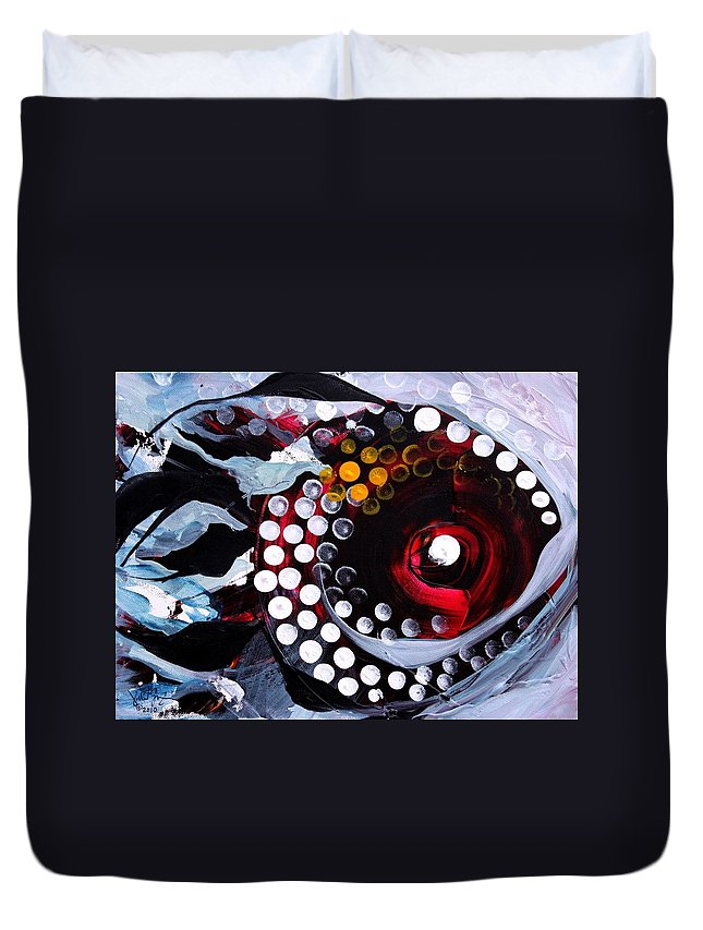 Fish Duvet Cover featuring the painting Sylvia by J Vincent Scarpace