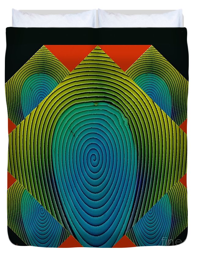 Digital Art Duvet Cover featuring the painting Symmetrica 189 by Nedunseralathan R