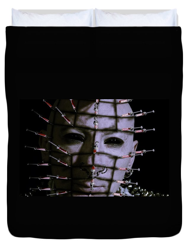 Adult Duvet Cover featuring the photograph Syringe Head by Nathan Wright