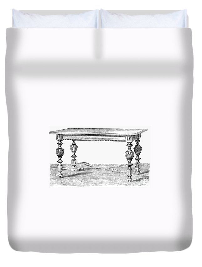 19th Century Duvet Cover featuring the photograph Table, 19th Century by Granger