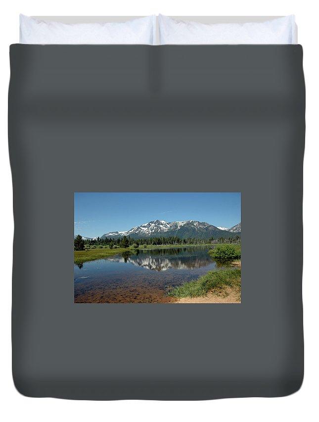 Usa Duvet Cover featuring the photograph Tallac Reflections by LeeAnn McLaneGoetz McLaneGoetzStudioLLCcom