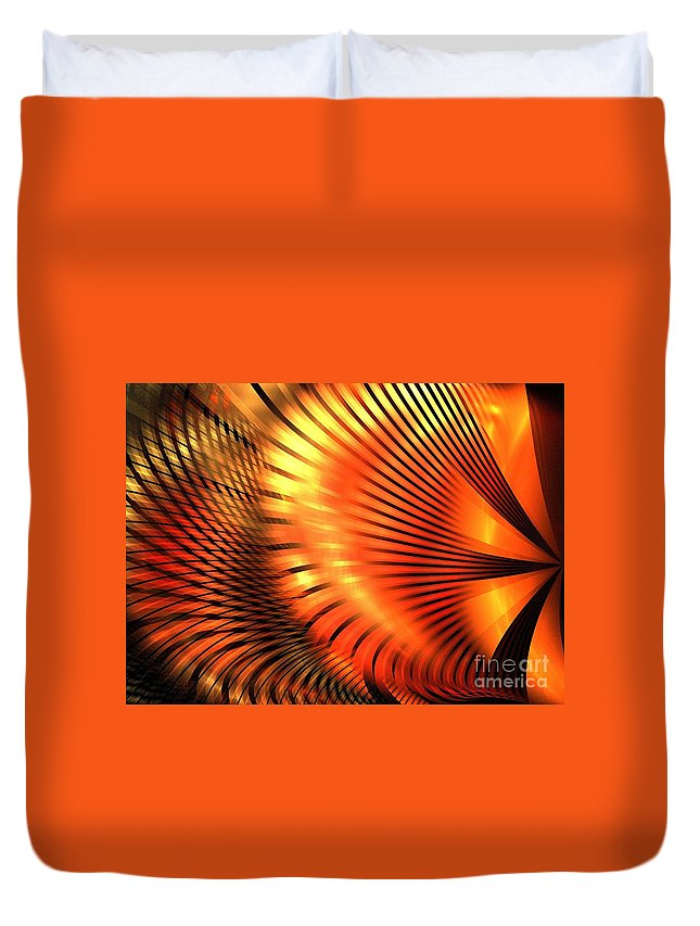 Apophysis Duvet Cover featuring the digital art Tangerine by Kim Sy Ok