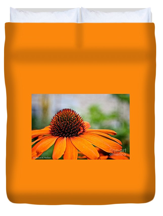 Outdoors Duvet Cover featuring the photograph Tangerine Summer by Susan Herber