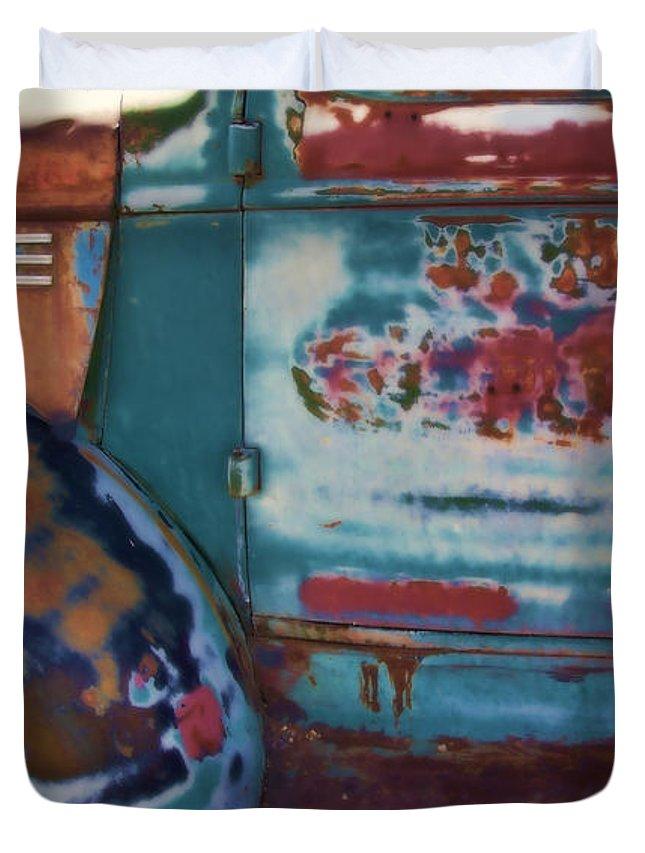 Truck Duvet Cover featuring the photograph Taos Truck 2 by John Hansen