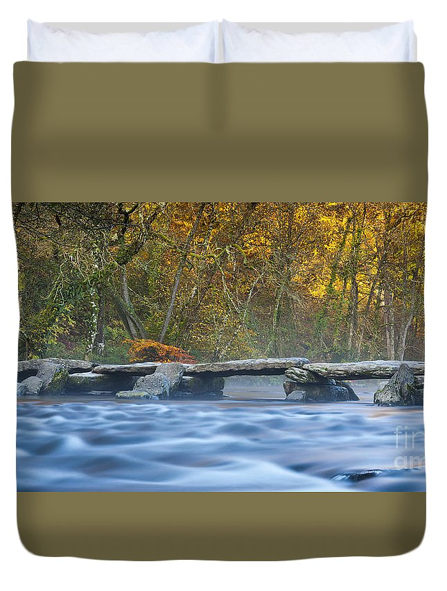 Gbr Duvet Cover featuring the photograph Tarr Steps by Sebastian Wasek