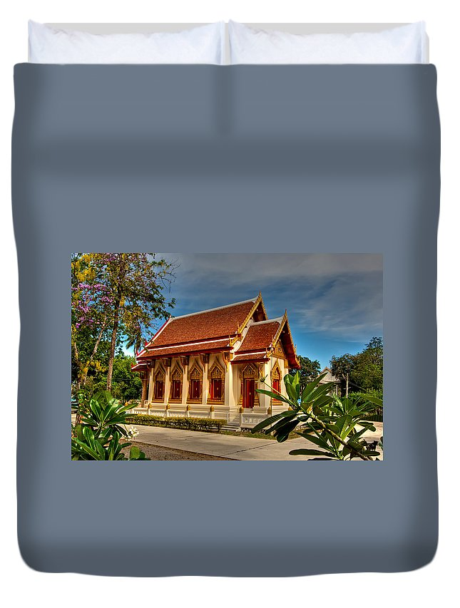Architecture Duvet Cover featuring the photograph Temple by Adrian Evans