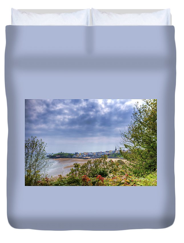 Enby Pembrokeshire Duvet Cover featuring the photograph Tenby Pembrokeshire Painted by Steve Purnell