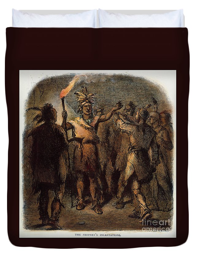 1811 Duvet Cover featuring the photograph Tenskwatawa (c1768-1834) by Granger