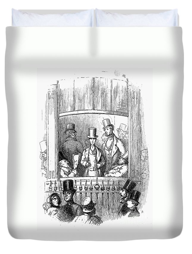 1855 Duvet Cover featuring the photograph Thackeray: Newcomes, 1855 by Granger