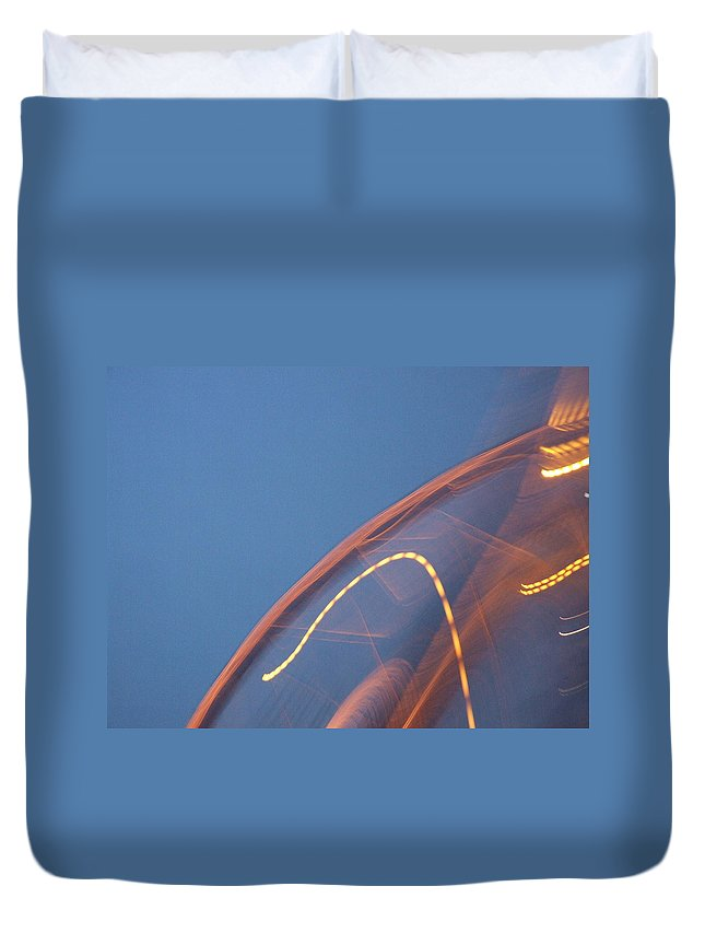 Travel Duvet Cover featuring the photograph Thai Bridge Abstract by Lyle Barker