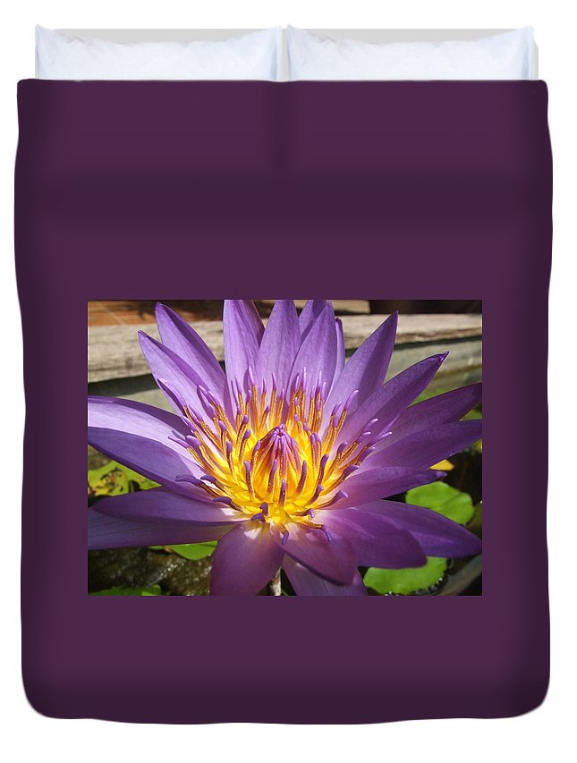Flowers Duvet Cover featuring the photograph Thai Colours 3 by Lyle Barker