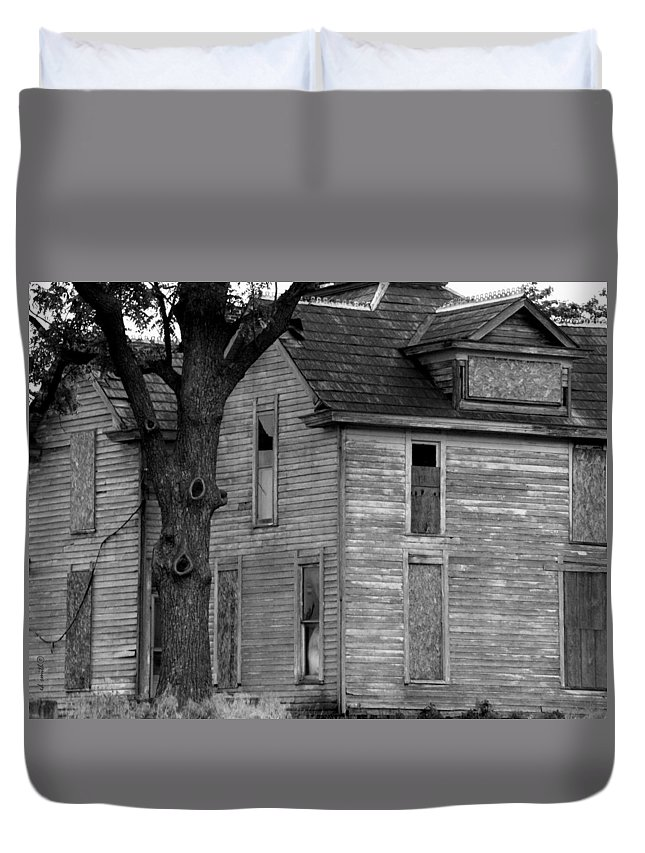 The Adams Family Duvet Cover featuring the photograph The Adams Family by Ed Smith