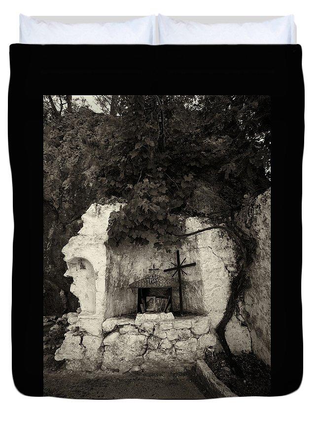 Jouko Lehto Duvet Cover featuring the photograph The Altar 2 Bw by Jouko Lehto