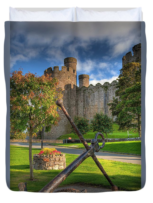 Castle Duvet Cover featuring the photograph The Anchor by Adrian Evans