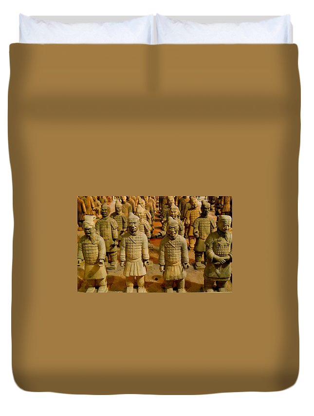 Qin Shi Huang Duvet Cover featuring the photograph The Army Of The Afterlife by Rachel Kaufmann
