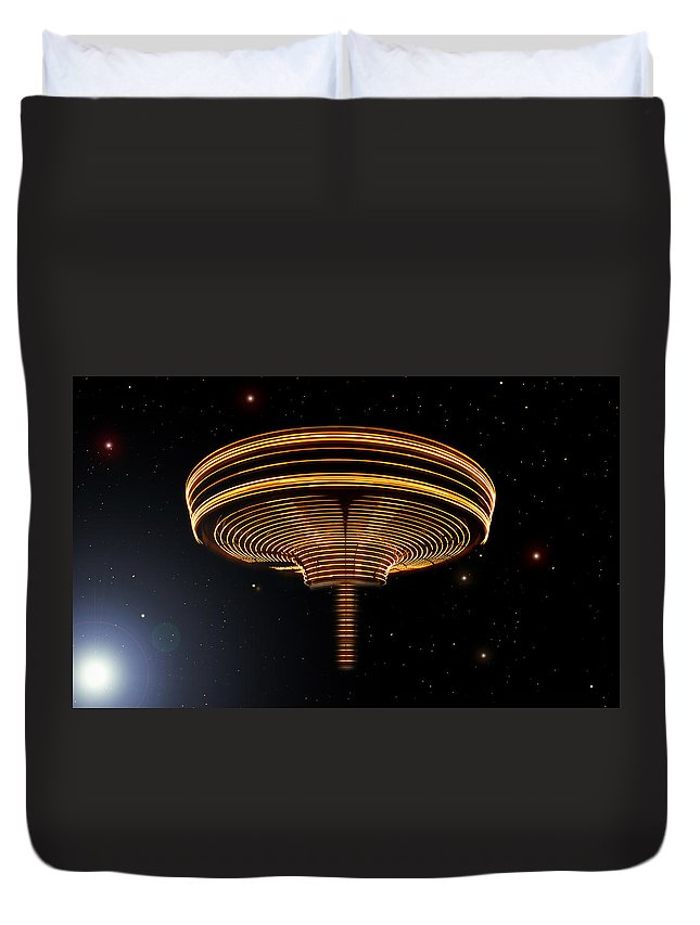 Art Duvet Cover featuring the digital art The Arrival by David Lee Thompson