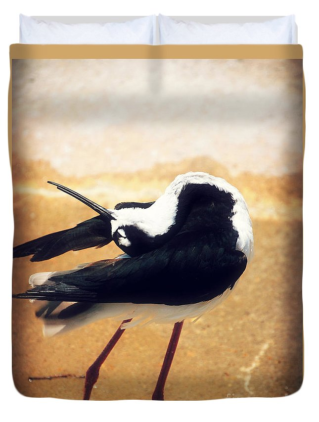 Landscape Duvet Cover featuring the photograph The Ballerina Bird by Peggy Franz