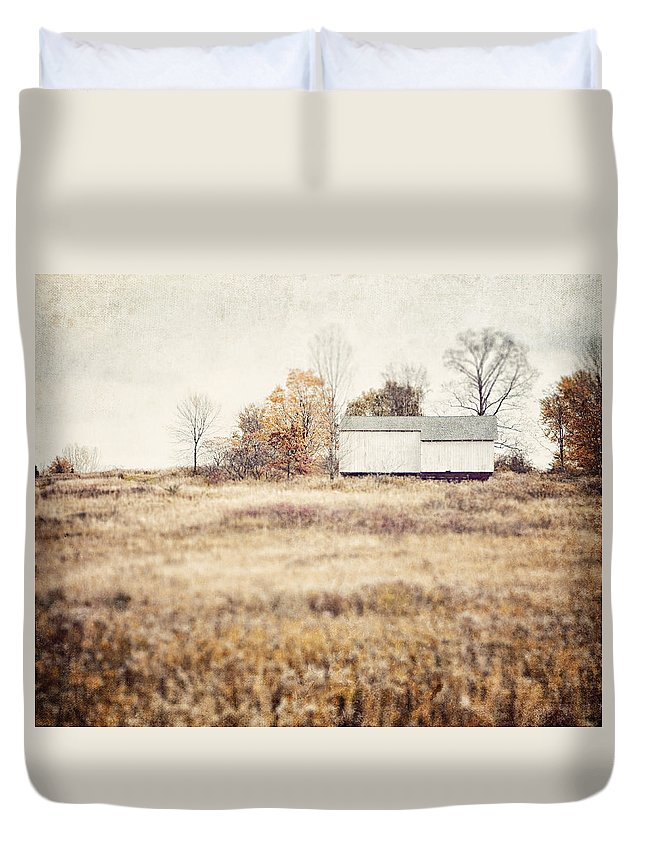 Lisa Russo Duvet Cover featuring the photograph The Barn On The Hill by Lisa Russo