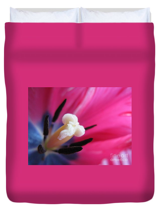 Flower Duvet Cover featuring the photograph The Beauty From Inside by Ausra Huntington nee Paulauskaite