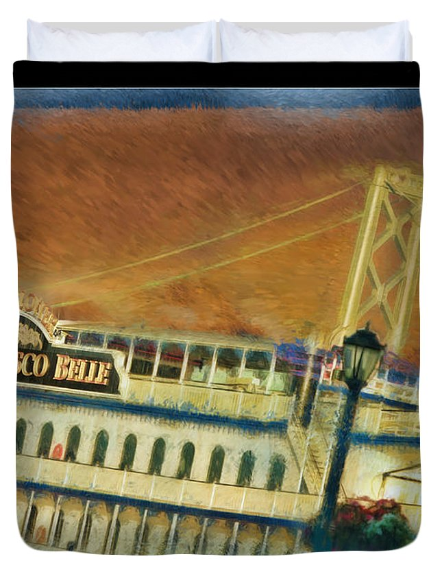 Art Photography Duvet Cover featuring the photograph The Belle Of San Francisco by Blake Richards