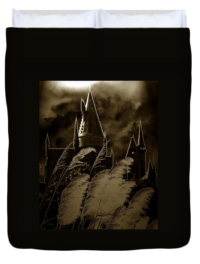 Fine Art Photography Duvet Cover featuring the photograph The Castle by David Lee Thompson
