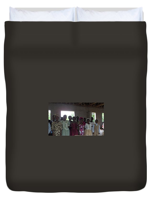Choir Duvet Cover featuring the photograph The Choir by Amy Hosp