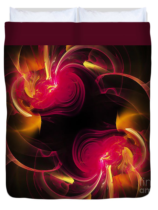 Fractal Duvet Cover featuring the digital art The Circle Of Love 2 by Andee Design