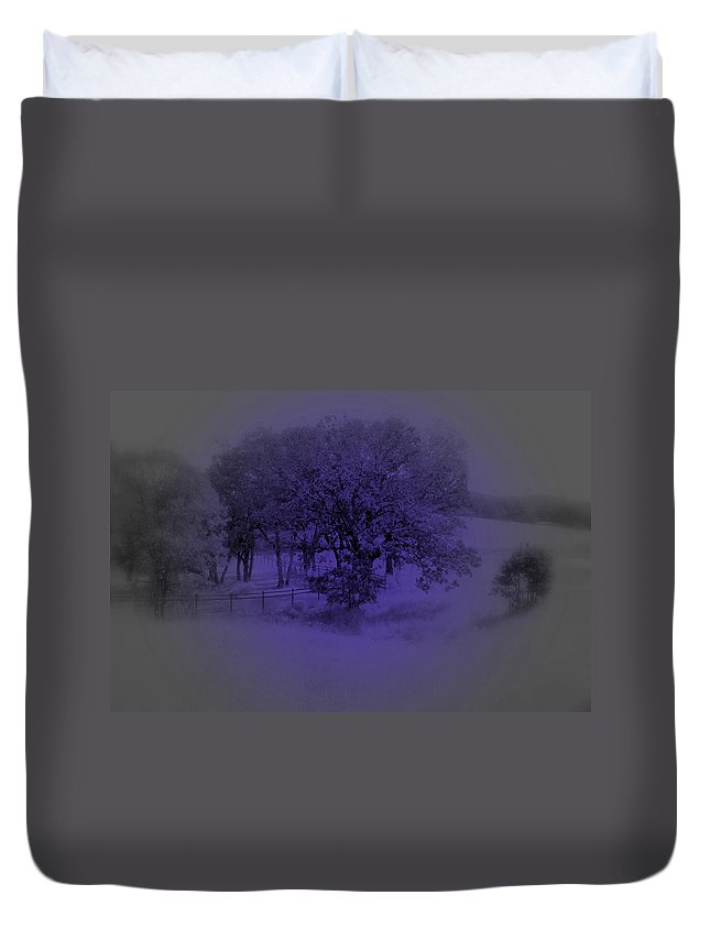 Tree Duvet Cover featuring the photograph The Circle Violet Tree by Kathleen Grace