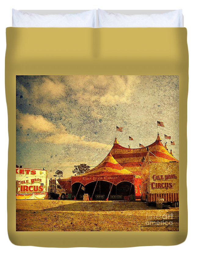 Circus Duvet Cover featuring the photograph The Circus Is In Town by Susanne Van Hulst
