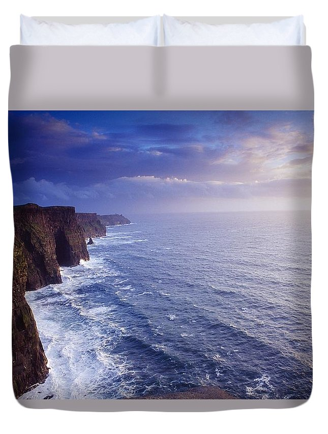 Attraction Duvet Cover featuring the photograph The Cliffs Of Moher, County Clare by Gareth McCormack