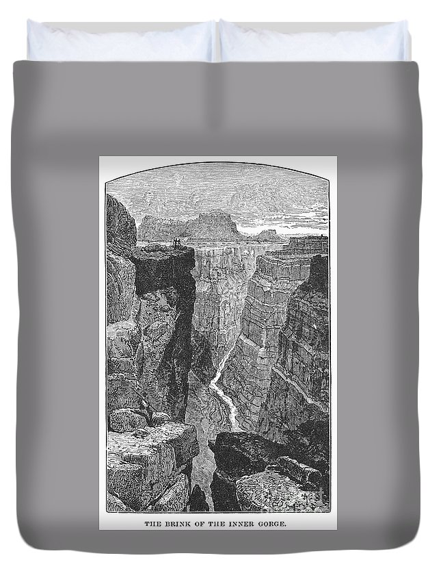 19th Century Duvet Cover featuring the photograph The Colorado River by Granger