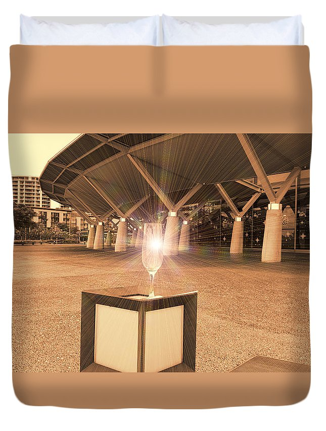 Building Duvet Cover featuring the photograph The Day After The Night Before by Douglas Barnard