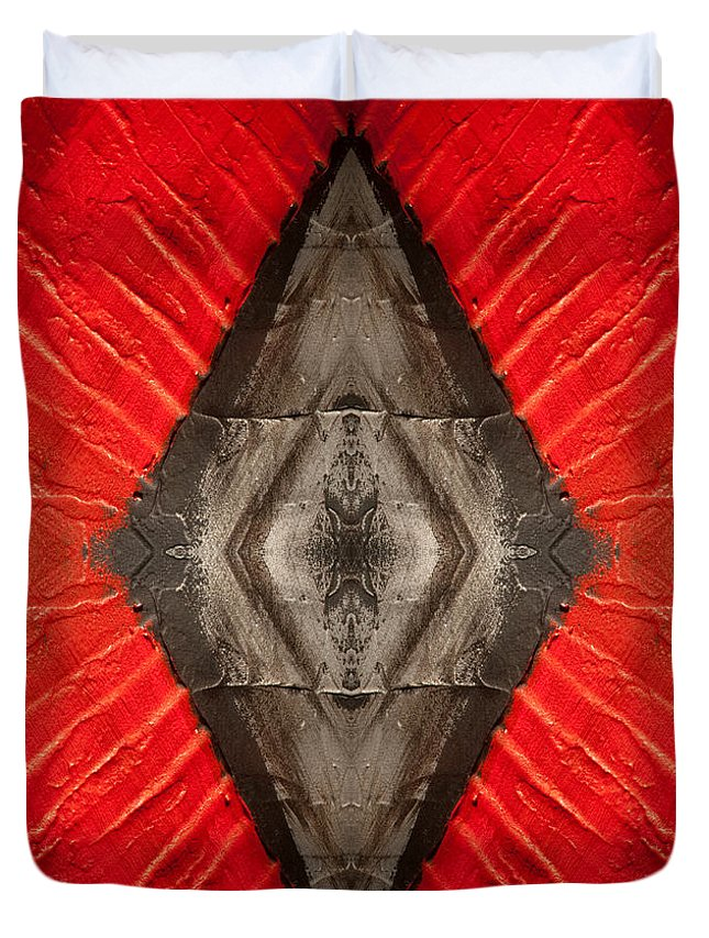 Diamond Duvet Cover featuring the painting The Diamond Of Courage by Bruce Stanfield