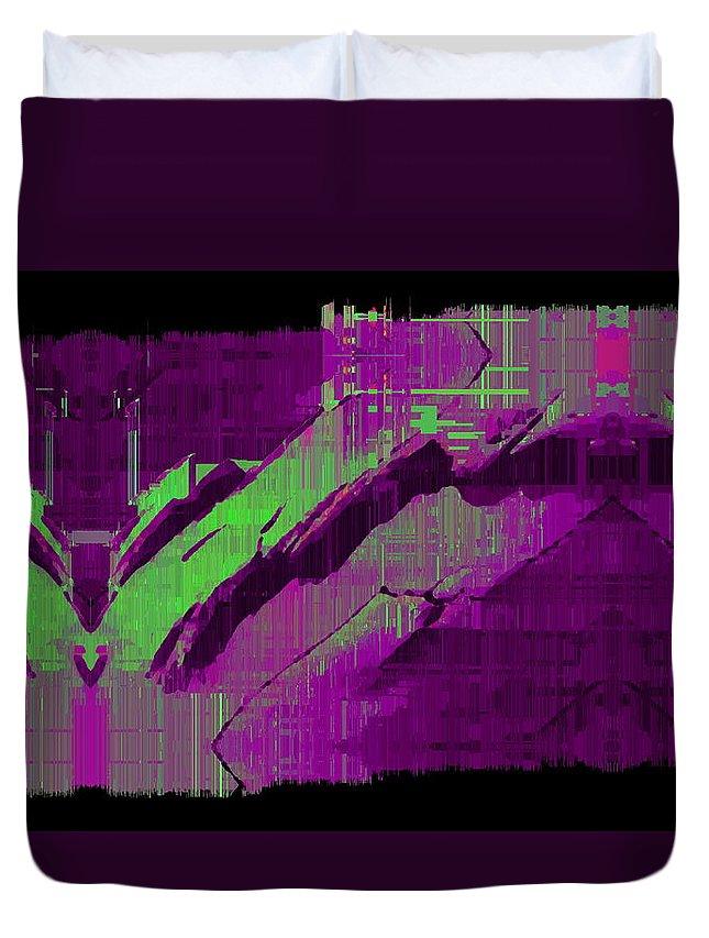 Abstract Duvet Cover featuring the digital art The Drift by Tim Allen